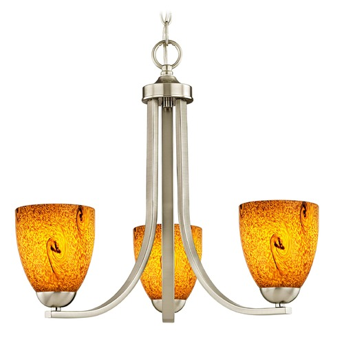 Design Classics Lighting Design Classics Dalton Fuse Satin Nickel Mini-Chandelier 5843-09 GL1001MB