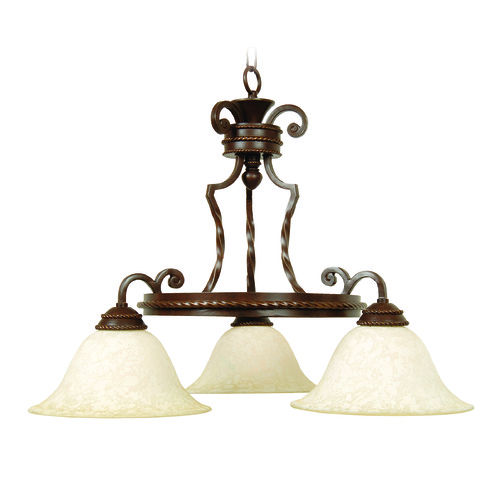 Jeremiah Lighting Jeremiah Riata Aged Bronze Textured Chandelier 8127AG3
