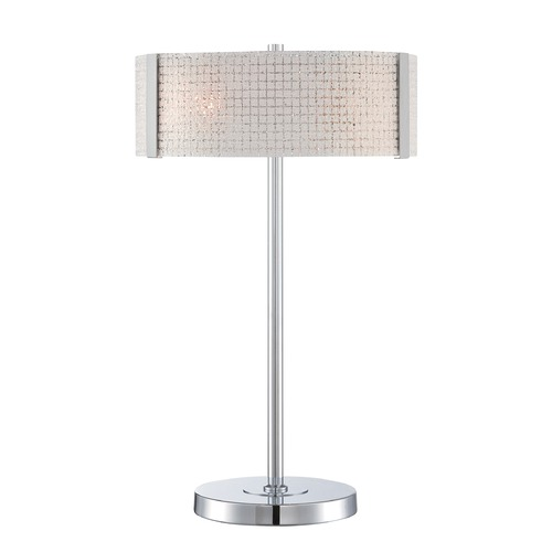 Lite Source Lighting Lite Source Maso Chrome Table Lamp with Oval Shade LS-22512