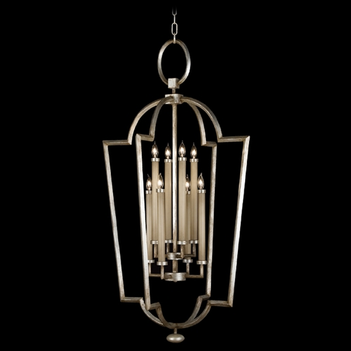 Fine Art Lamps Fine Art Lamps Allegretto Silver Platinized Silver Leaf with Subtle Brown Highlights Pendant Light 780440ST