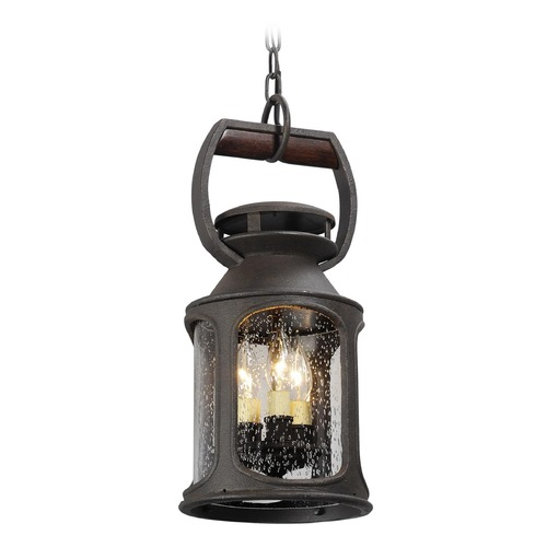 Troy Lighting Troy Lighting Old Trail Centennial Rust Outdoor Hanging Light F4517