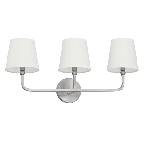 Capital Lighting Capital Lighting Dawson Brushed Nickel Bathroom Light 119331BN-674