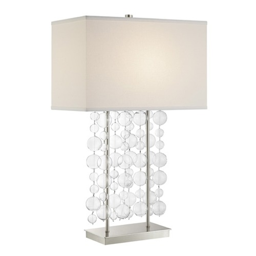 Lite Source Lighting Lite Source Tribeca Chrome Clear Table Lamp with Rectangle Shade LS-23172