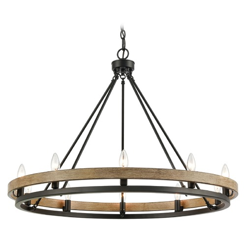 Elk Lighting Elk Lighting Ramsey Matte Black, Aspen Chandelier 75057/10