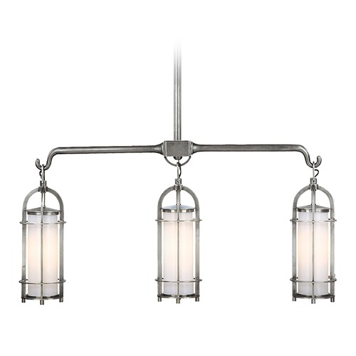 Hudson Valley Lighting Modern Island Light with White Glass in Polished Nickel Finish 8533-PN