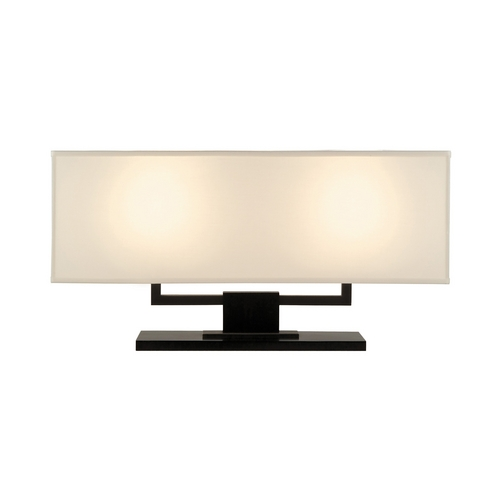 Sonneman Lighting Modern Table Lamp with Beige / Cream Shades in Black Brass Finish 3312.51