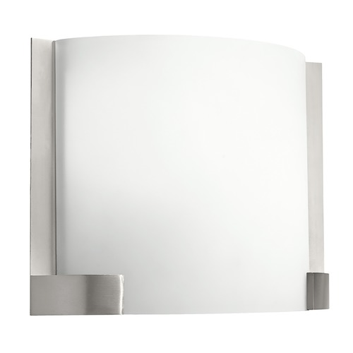Kichler Lighting Kichler Sconce Wall Light with White Glass in Brushed Nickel Finish 10620NI