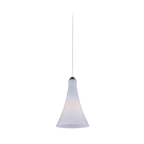 ET2 Lighting Modern Low Voltage Mini-Pendant Light with White Glass E94532-105SN