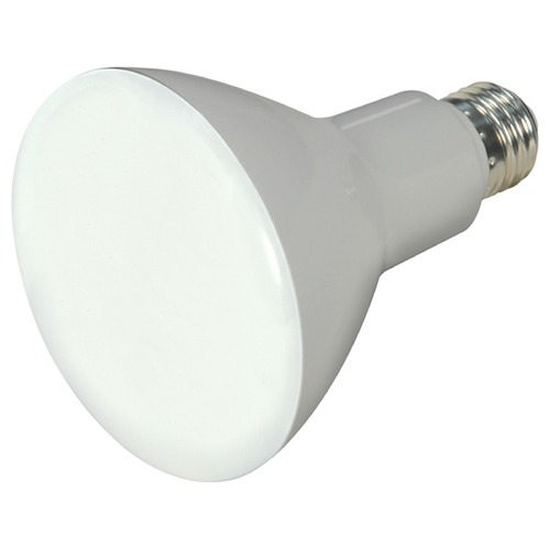 Satco Lighting 9.5W Medium Base LED Bulb BR30 Flood 105 Degree Beam Spread 800LM 3000K Dimmable S9621