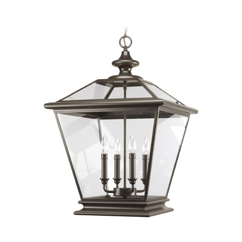 Progress Lighting Progress Pendant Light with Clear Glass in Antique Bronze Finish P3904-20