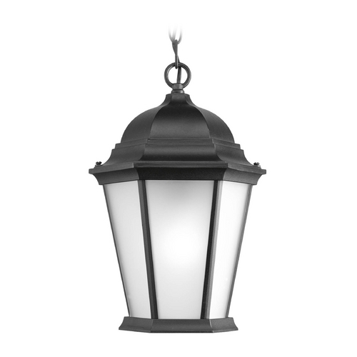 Progress Lighting Outdoor Hanging Light with White Glass in Black Finish P5582-31EB