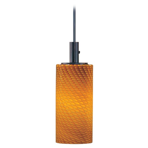 ET2 Lighting Carte Bronze Mini-Pendant Light with Cylindrical Shade E91051-14BZ