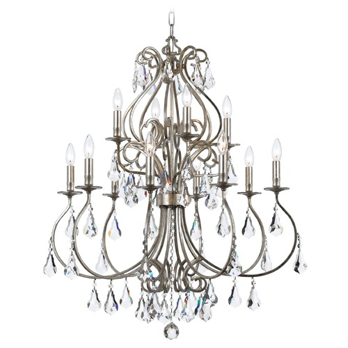Crystorama Lighting Crystorama Lighting Ashton Olde Silver Crystal Chandelier 5017-OS-CL-MWP