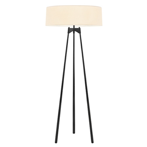 Sonneman Lighting Sonneman Lighting Torii Satin Black Floor Lamp with Drum Shade 6170.25