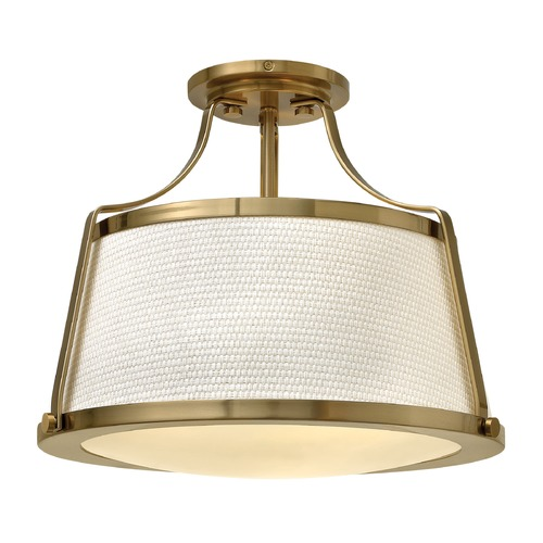 Hinkley Lighting Hinkley Lighting Charlotte Brushed Caramel Semi-Flushmount Light 3521BC