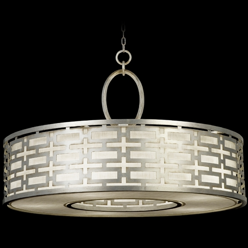 Fine Art Lamps Fine Art Lamps Allegretto Silver Platinized Silver Leaf with Subtle Brown Highlights Pendant Light w 787640GU