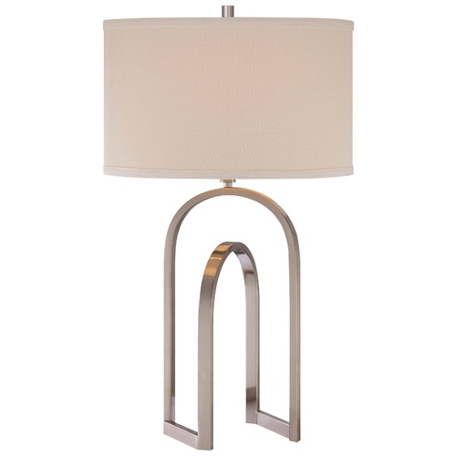Minka Lavery Minka Brushed Nickel Table Lamp with Drum Shade 13021-84