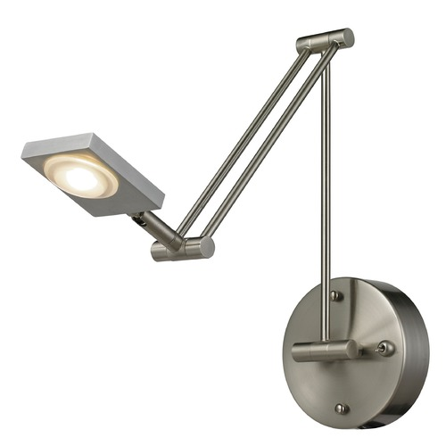 Elk Lighting Elk Lighting Reilly Brushed Nickel LED Swing Arm Lamp 54018/1