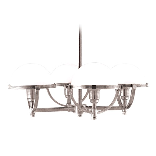 Hudson Valley Lighting Mid-Century Modern Chandelier Polished Nickel Stratford by Hudson Valley Lighting 3314-PN