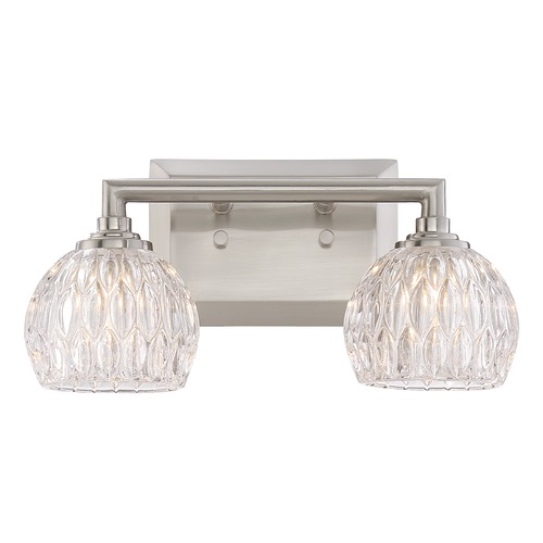 Quoizel Lighting Quoizel Lighting Platinum Collection Serena Brushed Nickel Bathroom Light PCSA8602BNLED