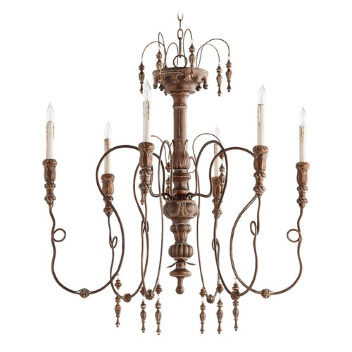 Quorum Lighting Quorum Lighting Salento Vintage Copper Chandelier 6206-6-39