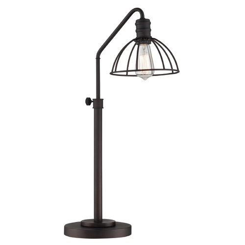 Lite Source Lighting Lite Source Gaius Burnished Bronze Table Lamp with Bowl / Dome Shade LS-22835