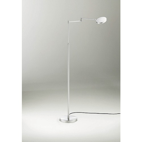 Holtkoetter Lighting Glanz Brushed Aluminum LED Swing Arm Lamp 9656LEDBA