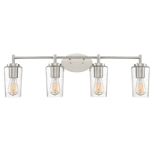 Quoizel Lighting Industrial Edison Bulb Bathroom Light Brushed Nickel 32.5-Inch by Quoizel Lighting EDS8604BN