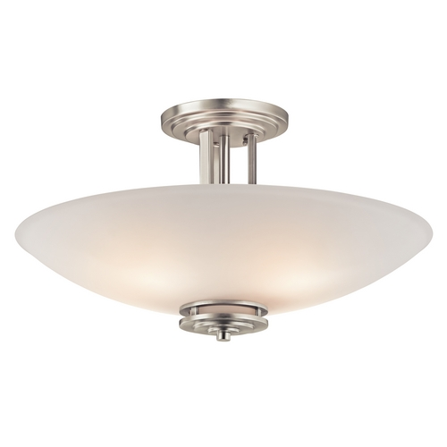 Kichler Lighting Kichler Modern Semi-Flush Light in Brushed Nickel Finish 3677NI