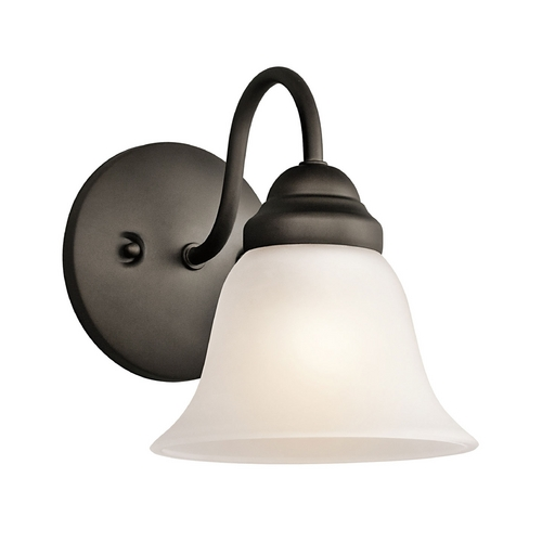 Kichler Lighting Kichler Sconce Wall Light with White Glass in Olde Bronze Finish 5294OZ