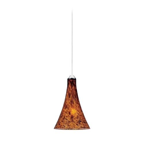 ET2 Lighting Modern Low Voltage Mini-Pendant Light with Amber Glass E94533-104SN