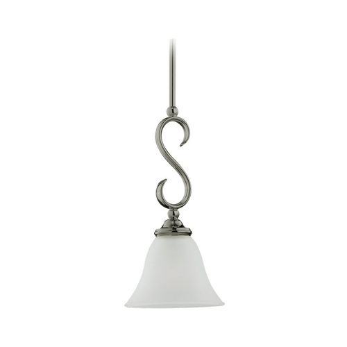 Sea Gull Lighting Mini-Pendant Light with White Glass 61360-965
