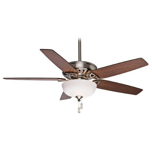 Casablanca Fan Co Casablanca Fan Concentra Gallery Brushed Nickel Ceiling Fan with Light 54023