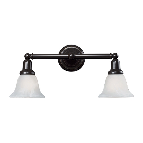 Elk Lighting Bathroom Light with White Glass in Oil Rubbed Bronze Finish 84021/2