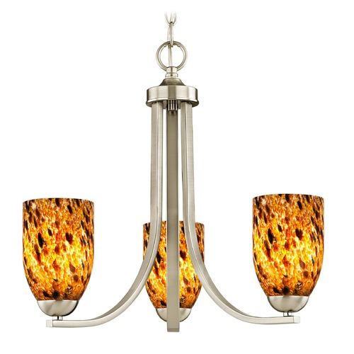 Design Classics Lighting Design Classics Dalton Fuse Satin Nickel Mini-Chandelier 5843-09 GL1005D
