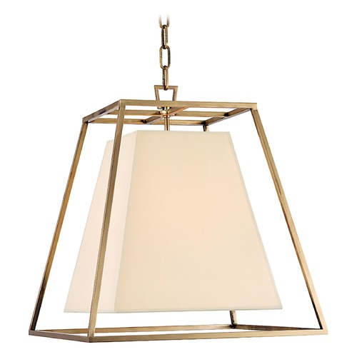 Hudson Valley Lighting Kyle 4 Light Pendant Light Square Shade - Aged Brass 6917-AGB