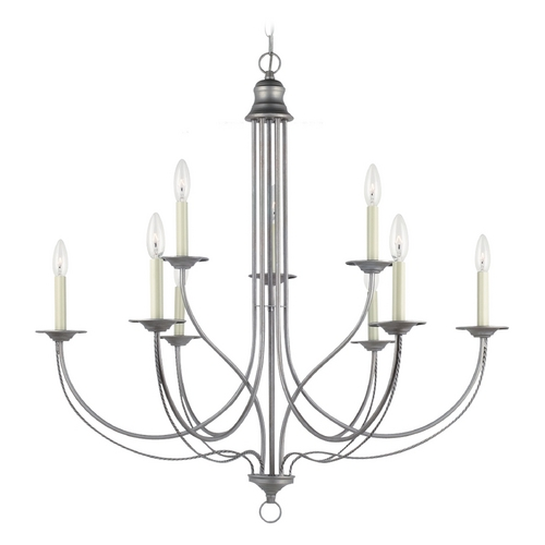 Sea Gull Lighting Chandelier in Weathered Pewter Finish 31295-57