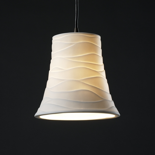 Justice Design Group Justice Design Group Limoges Collection Mini-Pendant Light POR-8816-20-WAVE-DBRZ