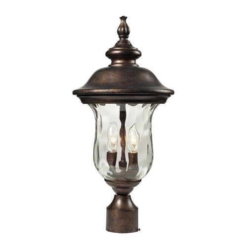 Elk Lighting Post Light with Clear Glass in Regal Bronze Finish 45023/2