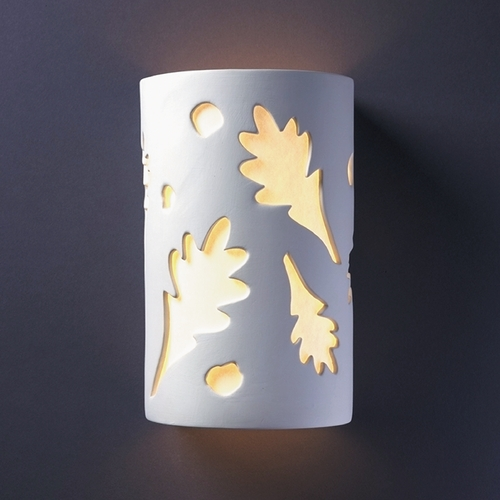 Justice Design Group Sconce Wall Light with White in Bisque Finish CER-5465-BIS