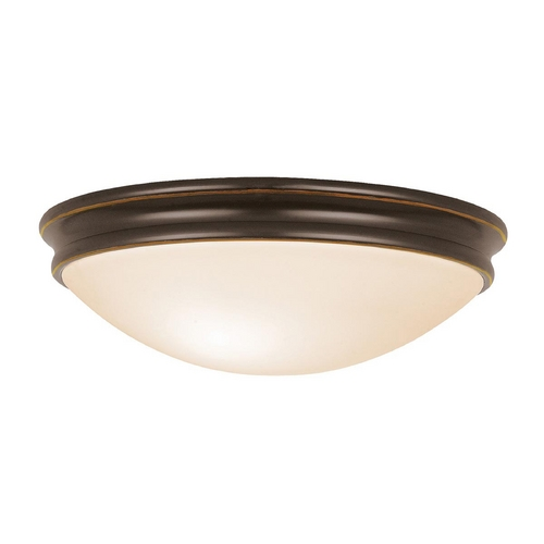 Access Lighting Access Lighting Atom Oil Rubbed Bronze LED Flushmount Light 20726LEDD-ORB/OPL