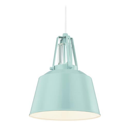 Feiss Lighting Feiss Lighting Freemont Hi Gloss Blue Mini-Pendant Light P1305SHBL