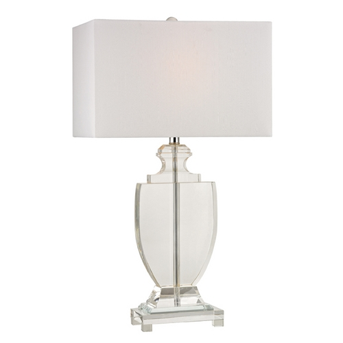 Dimond Lighting Table Lamp with White Shades in Clear Finish D2483