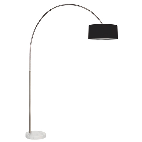 Sonneman Lighting Sonneman Lighting Arc Satin Nickel Arc Lamp with Drum Shade 4097.13K