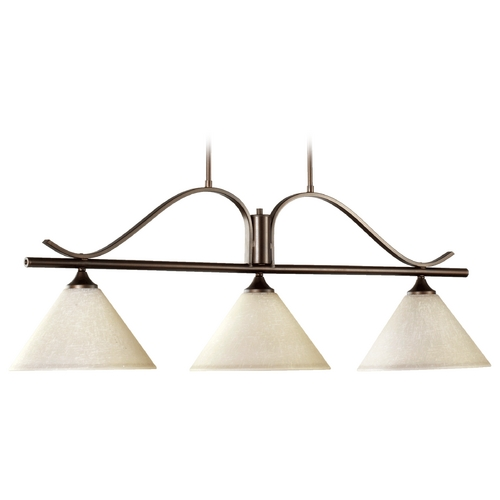 Quorum Lighting Quorum Lighting Winslet Ii Oiled Bronze Island Light with Conical Shade 6529-3-186