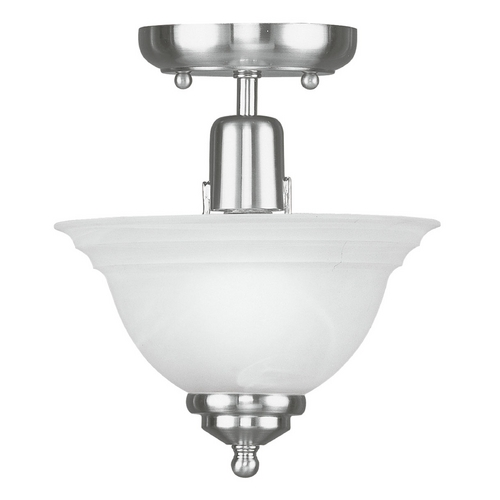 Livex Lighting Livex Lighting North Port Brushed Nickel Semi-Flushmount Light 4250-91