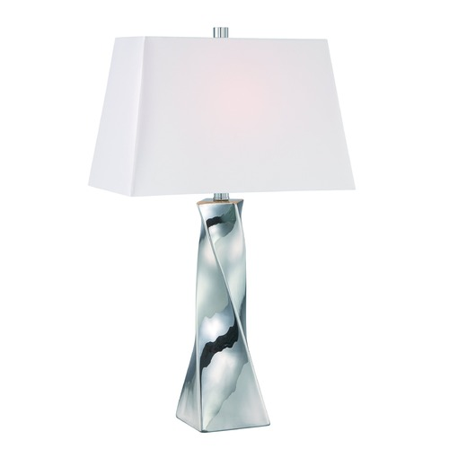 Lite Source Lighting Lite Source Twila Chrome Table Lamp with Rectangle Shade LS-22517C