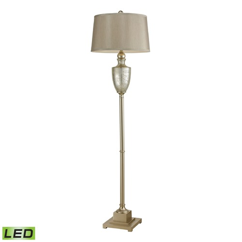 Dimond Lighting Dimond Lighting Silver LED Floor Lamp with Empire Shade 113-1139-LED