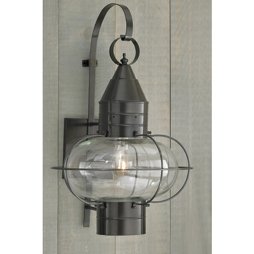 Norwell Lighting Norwell Lighting Classic Onion Bronze Outdoor Wall Light 1509-BR-CL