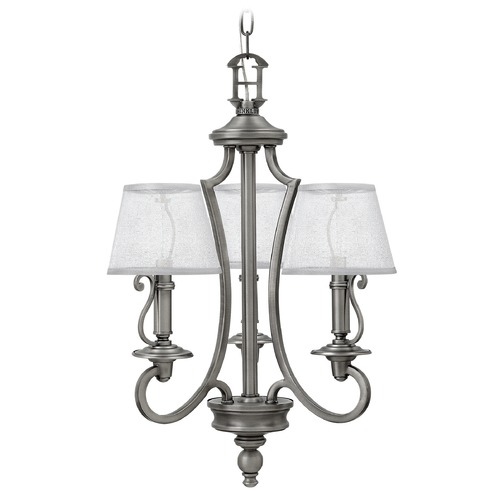 Hinkley Lighting Hinkley Lighting Plymouth Polished Antique Nickel Chandelier 4243PL